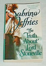 The Truth About Lord Stoneville Sabrina Jeffries SIGNED AUTOGRAPHED Paperback