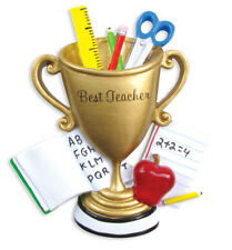 PERSONALIZED CHRISTMAS ORNAMENT OCCUPATION-BEST TEACHER