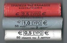 GRECIA 2002 CENTESIMI 1-2-5 ROTOLI COMPLETI ( 150 MONETE TOTALI ) ZECCA