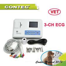 3-ch vet Veterinary  ECG Ekg macchina elettrocardiografo electrocardiograph USB