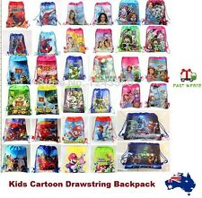 Cartoon Drawstring Backpack School Library Bag Girls Boys Children Kids Bags