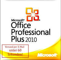 Microsoft Office 2010 Professional Plus Key MS Office 2010 Pro Plus Vollversion