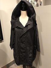 YOHJI YAMAMOTO Y's black lHooded Parka Trench Jacket Coat 2
