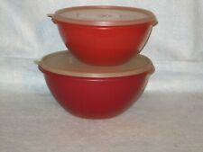 Tupperware Servalier Bowls Storage Containers Lot 2 Harvest color mixing bowls