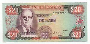 JAMAICA 20 DOLLARS 1991 PICK 72 D LOOK SCANS