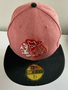 Chicago Blackhawks New Era 59FIFTY Fitted Hat NHL Tag Price $34.99 New