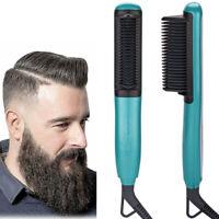 Electric Quick Heated Beard Straightener Brush Hair Comb Curling For Men,Women