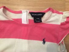 Ralph Lauren Girls White With Pink Stripes