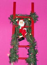 Weihnachtsmann auf Leiter 36 cm LED beleuchtet Deko Weihnachtsdeko Kerzen Deko 1