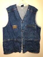 Vintage 1990s Karl Kani Metal Plate Denim Tupac Made in USA Men's XL Vest