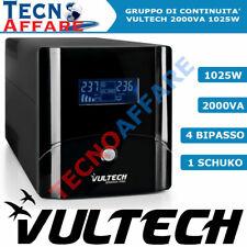 Gruppo Di Continuità UPS 2000VA Stabilizzatore PC Monitor Vultech UPS2000VA-PRO