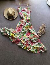 Gorgeous Floral Print Portmans Maxi Dress - Size 10