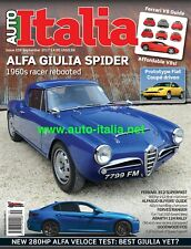 Auto italia Magazine issue 259 Alfa Giulia Spider Alfasud Abarth 124 Ferves