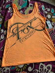 Fox Racing Womens Orange Tank Top Small