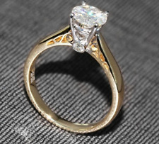 1.20 Ct Round Forever Brilliant Moissanite Engagement Ring In 14K Two-Tone Gold