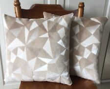 Handmade Cream/ Beige/ Ivory Patterned Velvet Cushion Cover 17 X17""