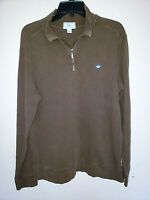 Mens Southern Tide The Skipjack 1/4 Zip Brown Sweater Size Large L