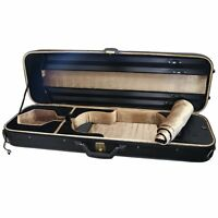 NEW Top Grade Deluxe Quality Solid Wood 4/4 Size Acoustic Violin Fiddle Case W9