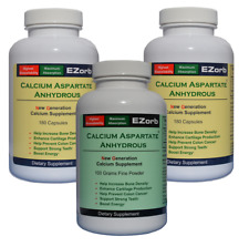 EZorb Calcium 1 Powder 2 Caps Combo Absorbs 92%, Bones, Joints, Muscles, Save 7%