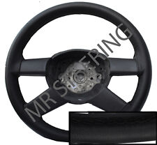 FOR TOYOTA AVENSIS MK2 BLACK REAL LEATHER STEERING WHEEL COVER 2003+