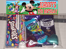 12 x Mickey Mouse Clubhouse Design Personalised Birthday Party Lolly / Loot Bags