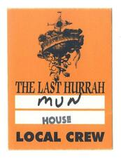 Whitesnake - The Last Hurrah - Konzert-Satin-Pass Local Crew - Sammlerstück