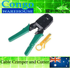 NEW Crimping Tool With Wire Stripper RJ45 RJ11 Ethernet LAN Cable Crimper Cutter