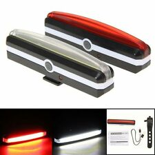USB Rechargeable LED Bicycle Bike Cycling Front Rear Tail Light 6 Modes Lamp