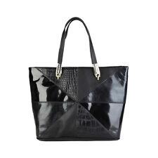 Versace Jeans | Black | Women's Shoulder Bag | Croc Print | RRP £450