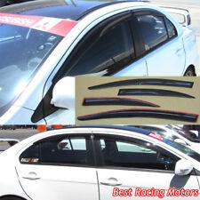 Mu-gen Style Side Window Visors Fits 08-16 Mitsubishi Lancer EVO 10 4/5dr
