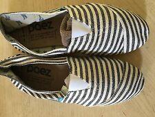 Espadrille Paez Stripes Black & White Cotton Rubber Sole Size 12 New