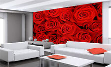 RED ROSES Wall Mural Photo Wallpaper GIANT DECOR Paper Poster Free Paste