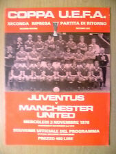 1976 UEFA Cup- JUVENTUS v MANCHESTER UNITED, 3 Nov (Org, Exc*)