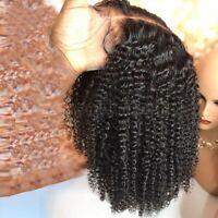 Pre Plucked Kinky Curly Lace Front Wig 100% Virgin Brazilian Human Hair Wigs Htw