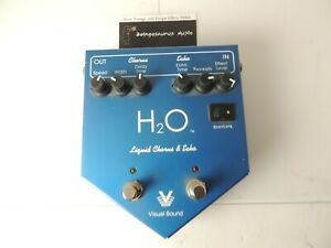 Visual Sound H2O Chorus and Echo/Delay Version 1 Effects Pedal Free USA Shipping