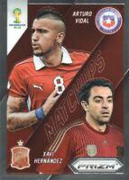 2014 Prizm FIFA World Cup Soccer Matchups #3 Arturo Vidal/Xavi Hernandez