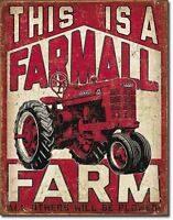 Farmall Farm Tractor Equipment Retro Vintage Wall Decor Art Metal Tin Sign New