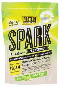 Protein Supplies Australia SPARK Natural Pre Workout - Green Apple 250g