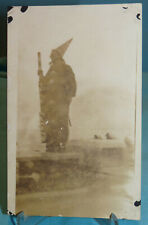 Real Photo Postcard Halloween Navy Sailor Dressed as Wizard~AZO~1918-1930