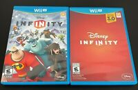 Wii U Disney Infinity 2.0 & 3.0 Games Complete With Manuals Lot of 2 - TESTED