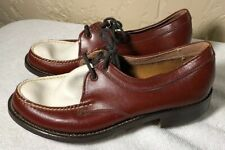 New Vintage 1960s Bass WeeJun Tie neolite sole metal spike golf shoes Size 5.5