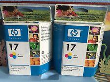2 Genuine HP 17 Tri-Color Deskjet Inkjet Ink Cartridge Tri-Color Sealed NEW