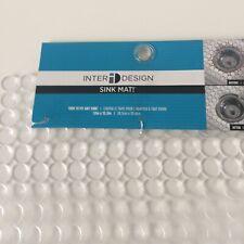InterDesign Orbz Sink Non-Slip, Dish Draining Mat, Plastic Graphite, Large