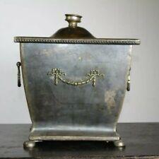 Antique 19th Century Regency Revival Copper Coal Scuttle or Wood Burner Casket