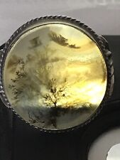 ring Moss Agate Antique sterling Silver