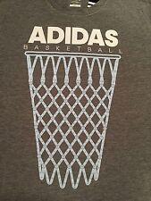 NWT Adidas Men's Ultimate BASKETBALL Dark Gray Heather Tee Shirt 2X A59533