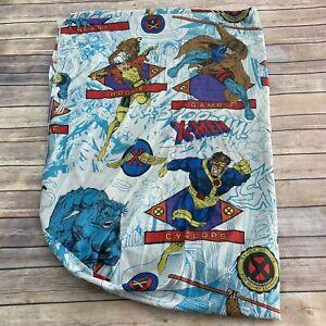 Vintage 1994 X-Men Fitted Bed Sheet Marvel Comics Wolverine Rogue Mutant U