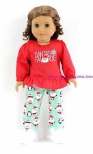 Santa's Favorite Christmas Pajamas 18 in Doll Clothes Fits American Girl