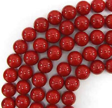 AAA Grade 10mm Red Sea Shell Pearl Mother of Pearl Round Loose Beads 15''