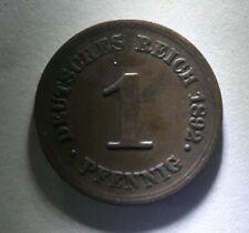 New listing German 1 Pfennig 1892 E Deutsches Reich